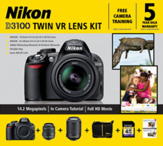 Artwork Nikon D3100 Twin DSLR VR Lens Kit